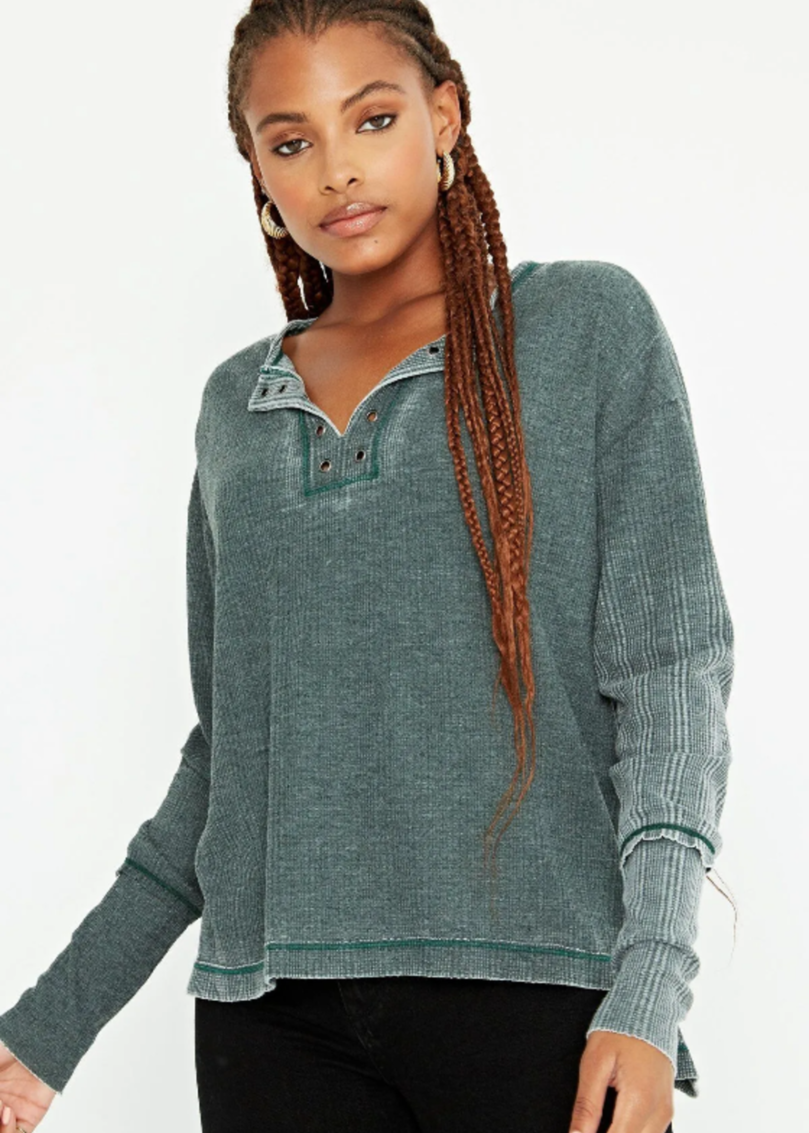 Project Social T Eyelet Burnout Long sleeve