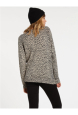 Volcom Over N Out Sweater - Leopard