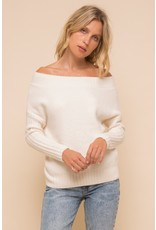 Off shoulder cozy sweater - Ivory