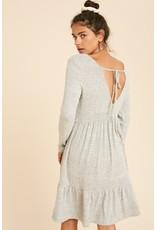 Hacci Babydoll Dress - Heather Grey