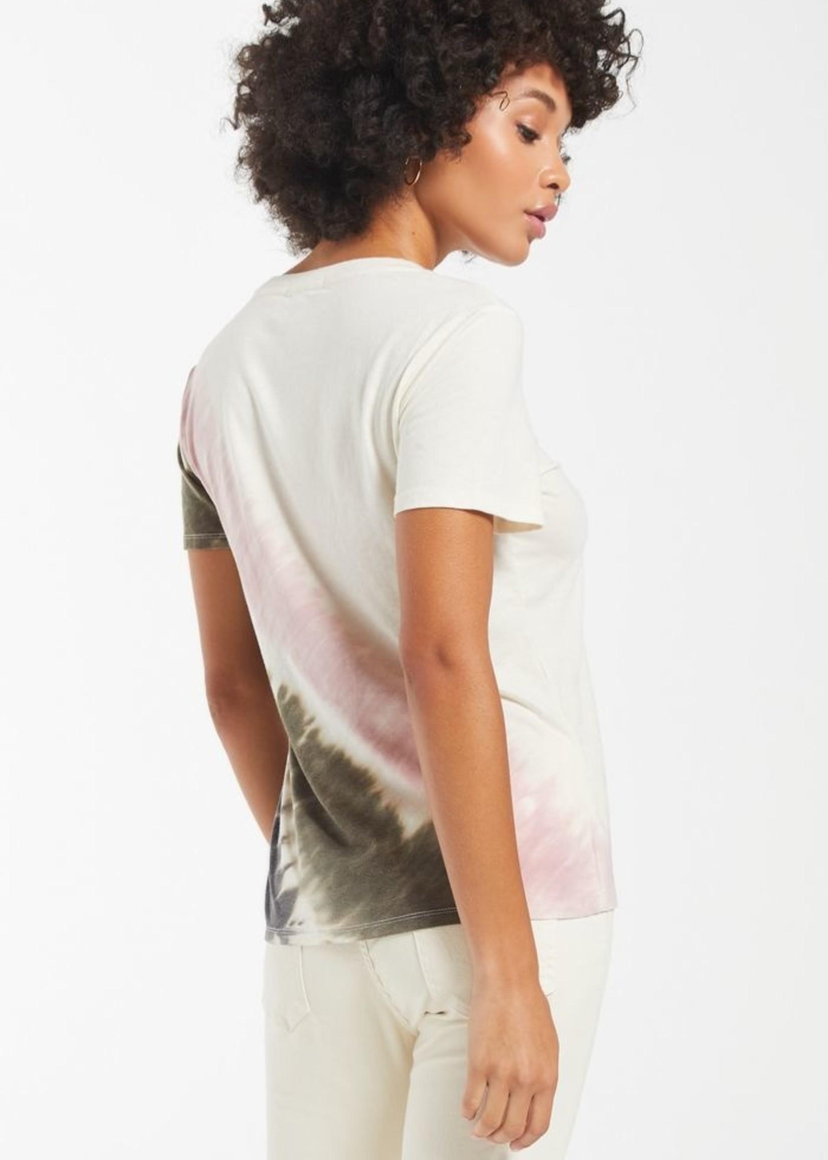 Z Supply Easy Stripe Tie Dye - Bone