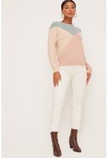 Lush Colorblock Sweater - Sage Multi