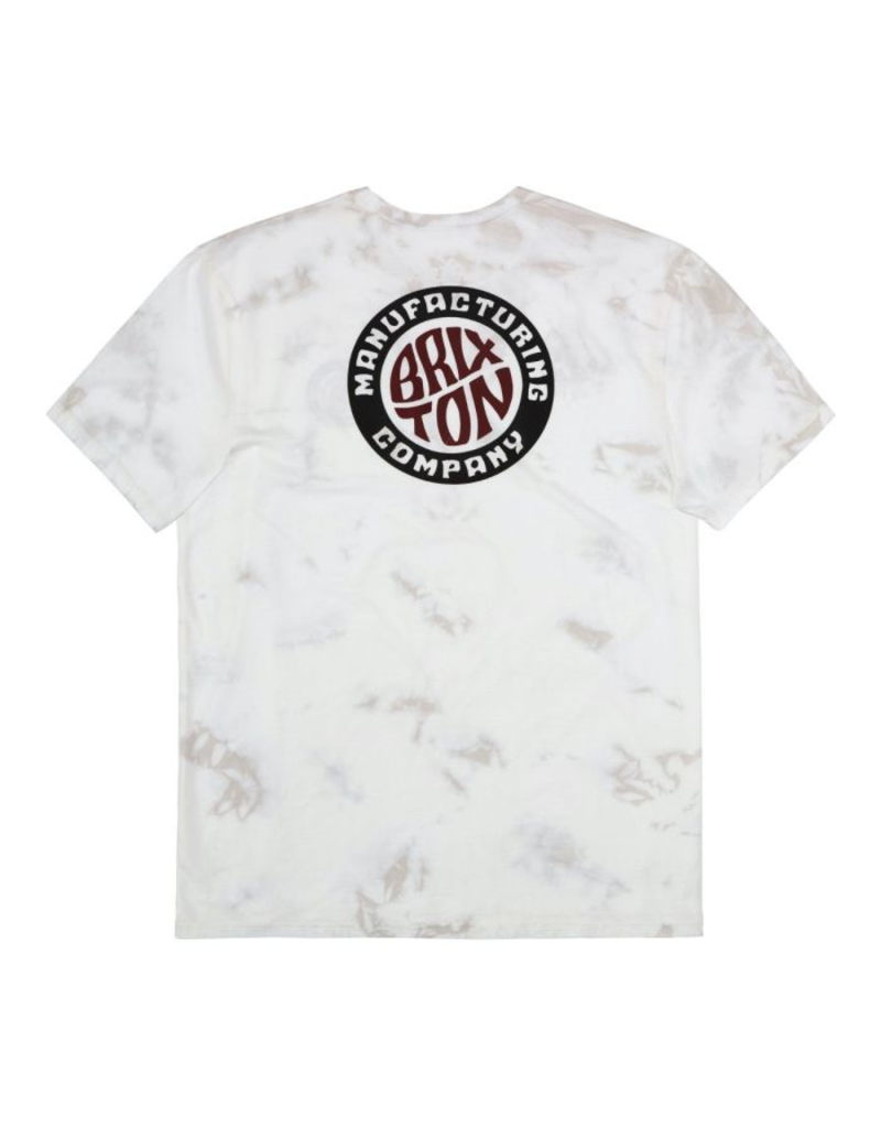 Brixton Tab Tee - White Tie Dye