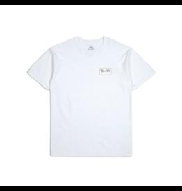 Brixton Grade Tee - White/Khaki