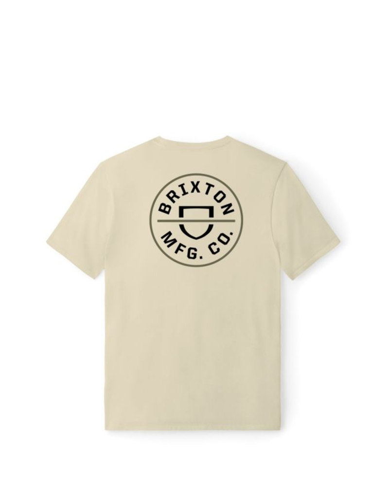 Brixton Crest Tee - Sand