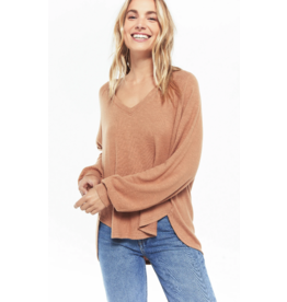 Z Supply Plira Slub Sweater - Carmel