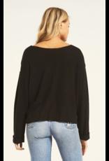 Z Supply Alpine Marled Pullover - Black