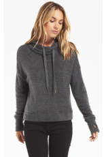 Z Supply Kacey Feather Hoodie - Charcoal