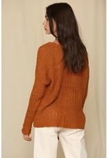 V Neck Sweater - Camel