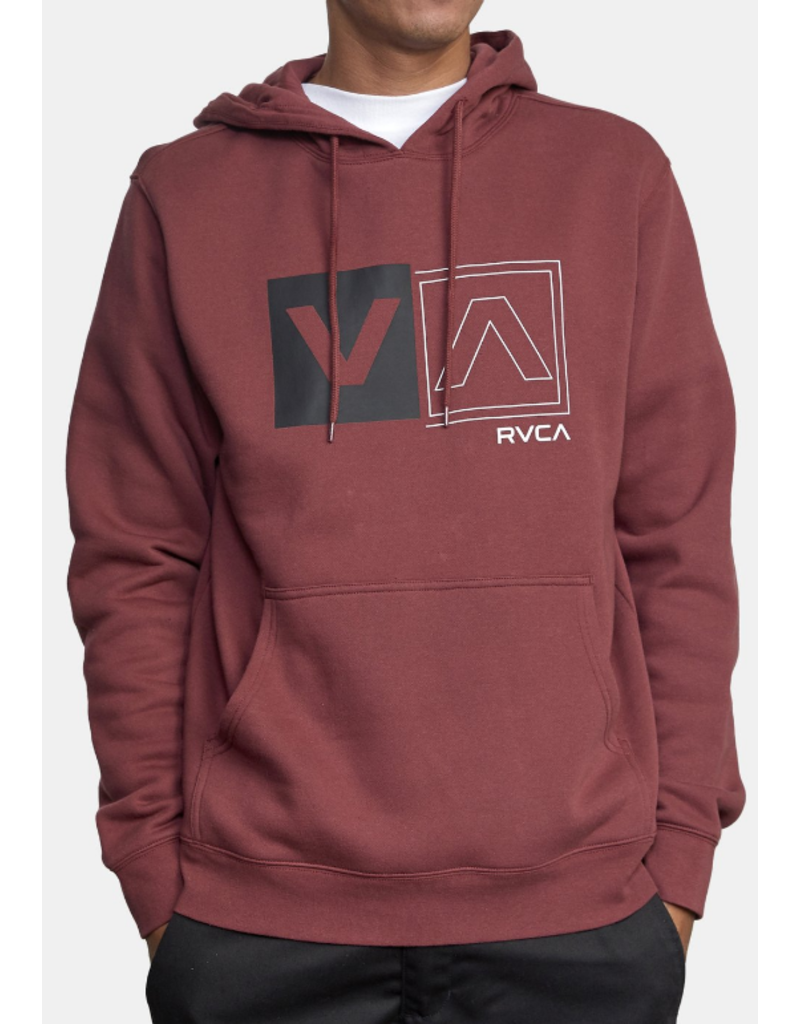 RVCA Divided Hoodie - Oxblood