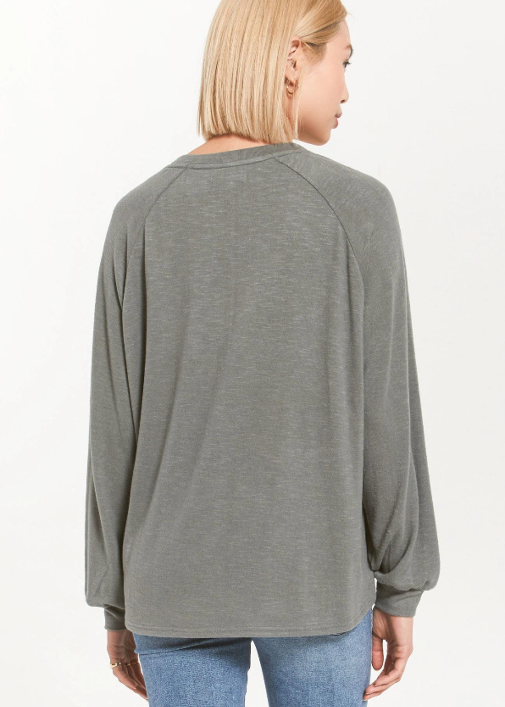 Z Supply Plira Slub Sweater - Ash Green