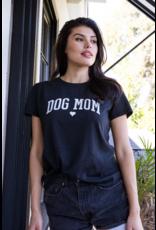suburban Riot Dog Mom Loose Tee - Black