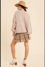 Multi Color Crewneck Sweater - Mauve