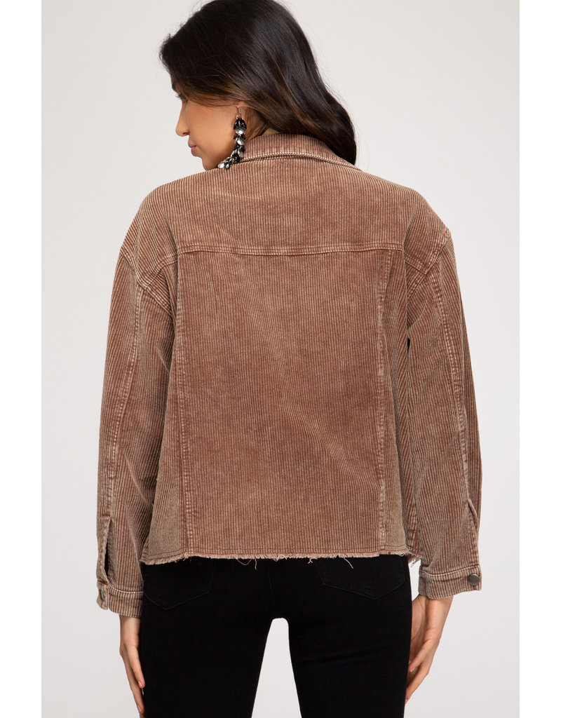 Cord Jacket - Brown