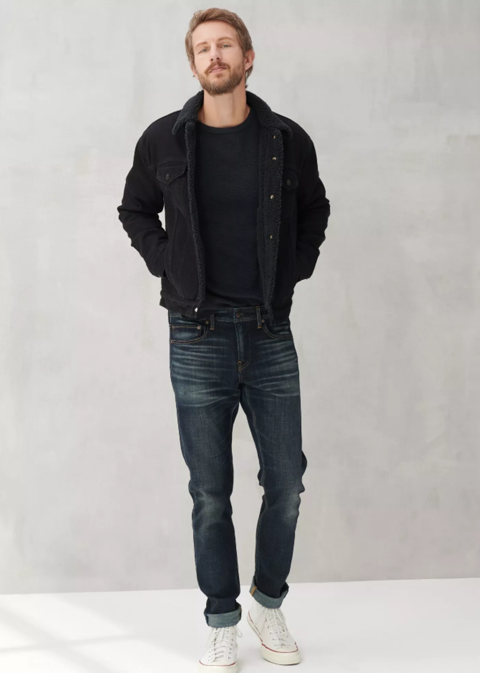 Lucky Brand Thermal Crew - Jet Black