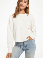 Z Supply Amelia Mini Bolt Pullover - Bone