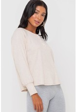 Henley Button Thermal Top - Heather Oatmeal