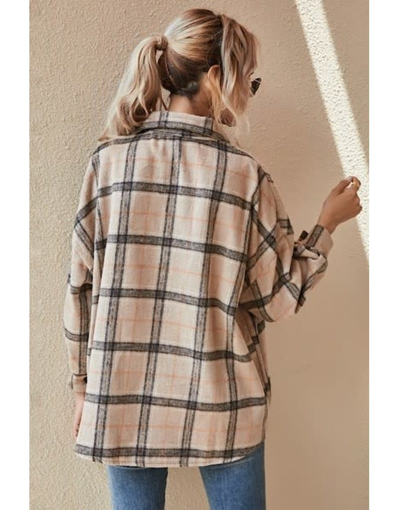 Button Up Flannel - Cocoa