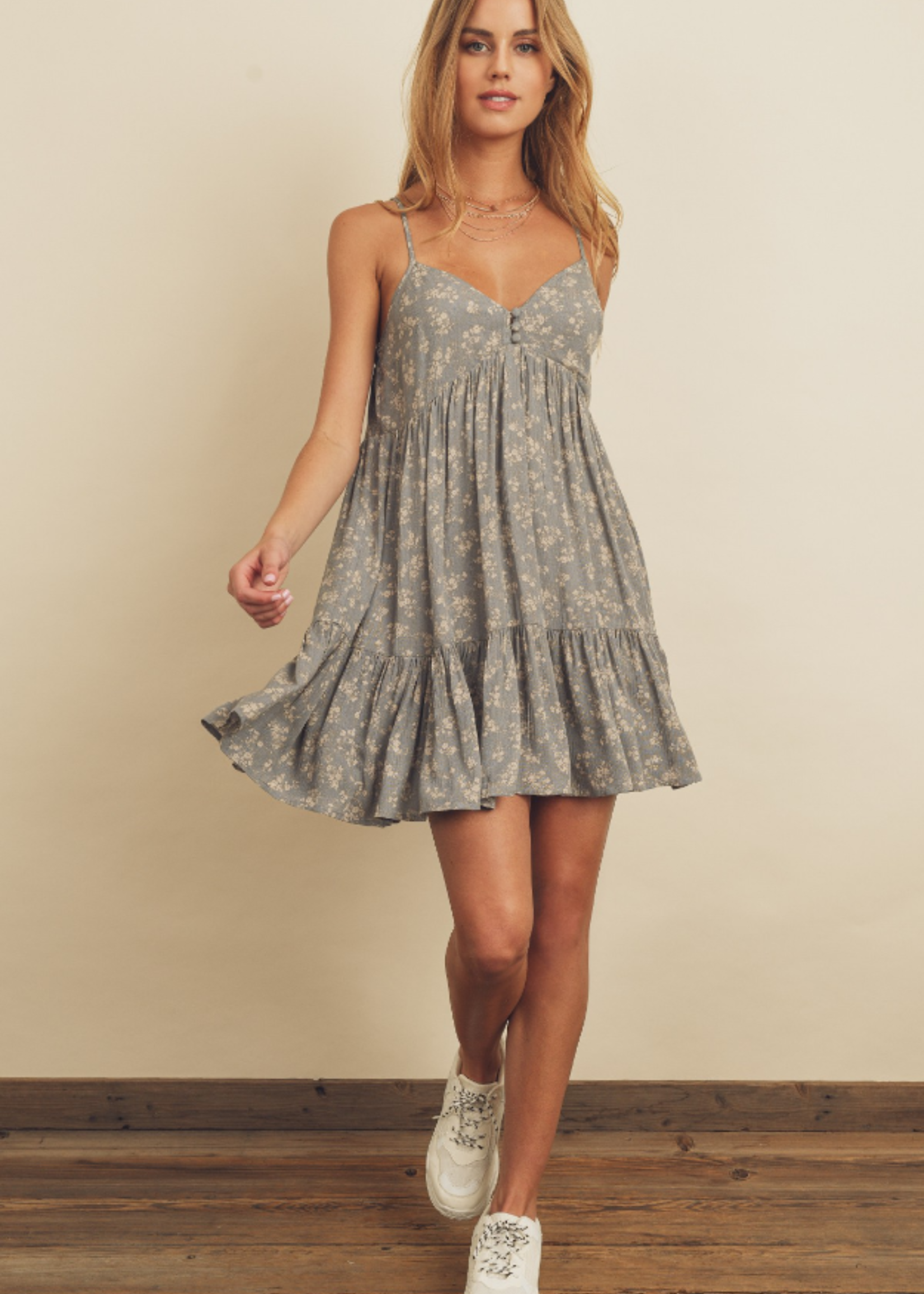 Floral Print Tiered Dress