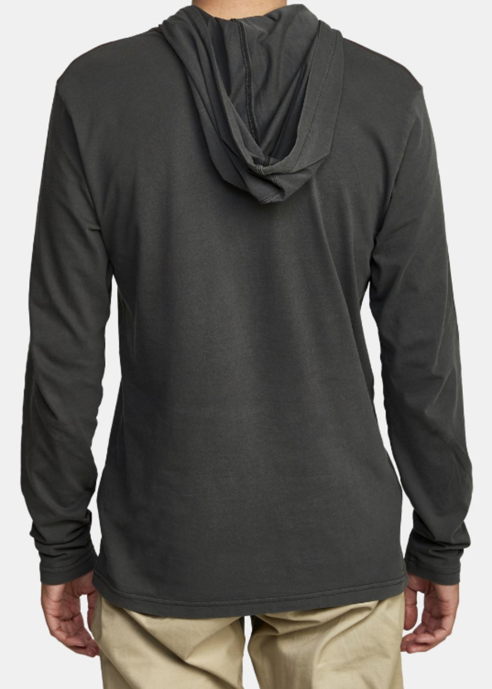 RVCA Pigment Hooded Tee - Black