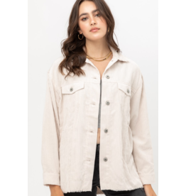 Cord Shirt Jacket - Cream