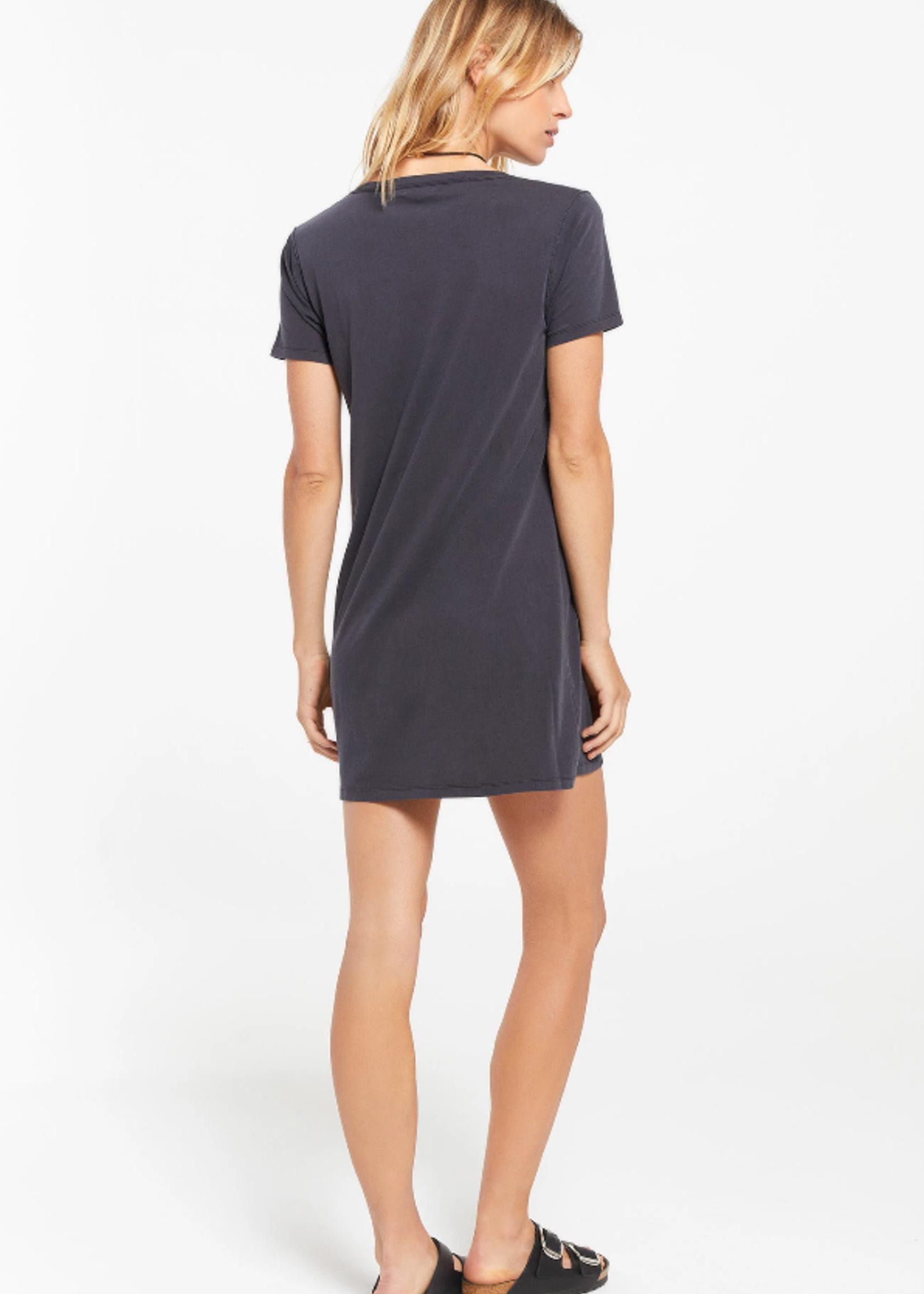 Z Supply Organic T-shirt Dress - Black