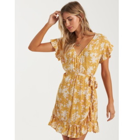 Billabong Wrap and Roll Dres - Gold