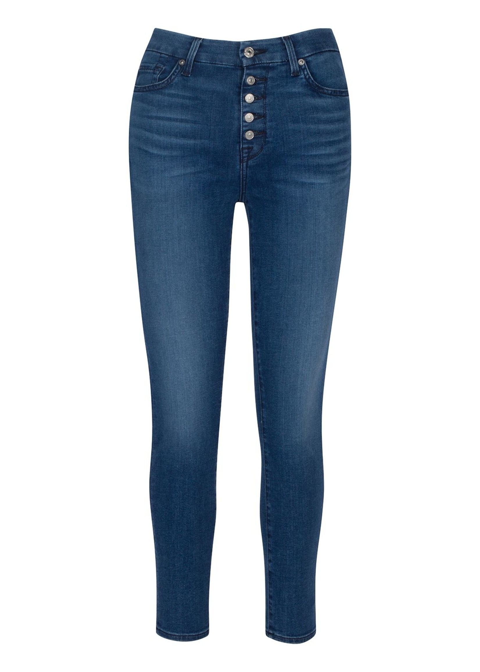 7 for All Mankind Highwaist Ankle Skinny - Peace Blue