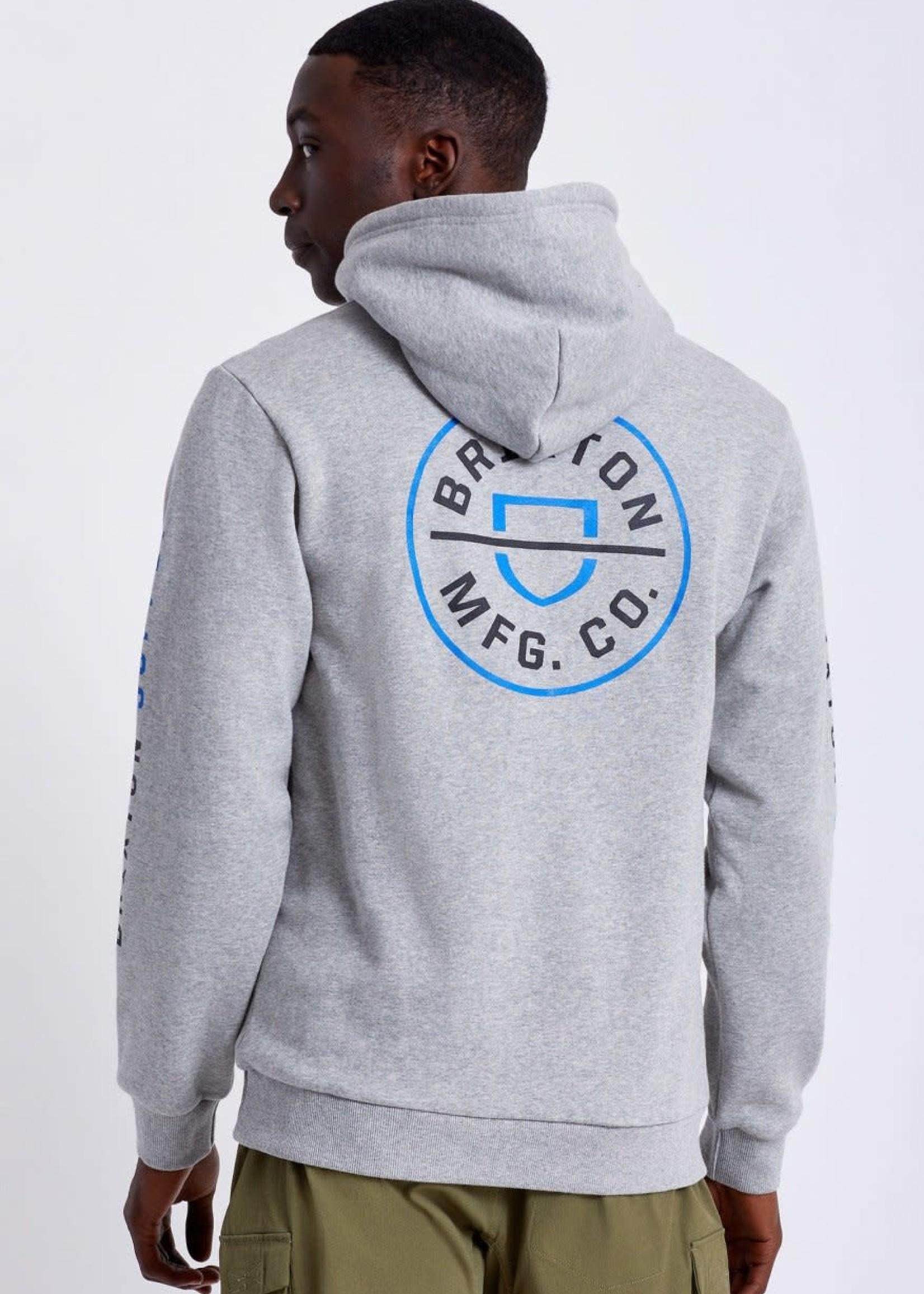 Brixton Crest Hood - Grey