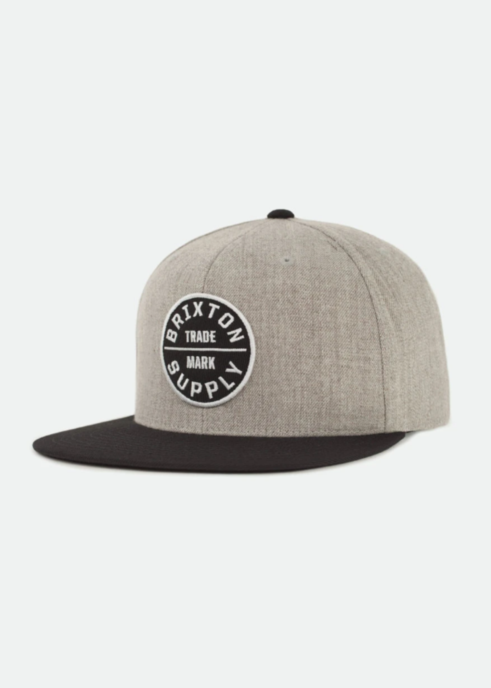 Brixton Oath Snapback - heather grey/black