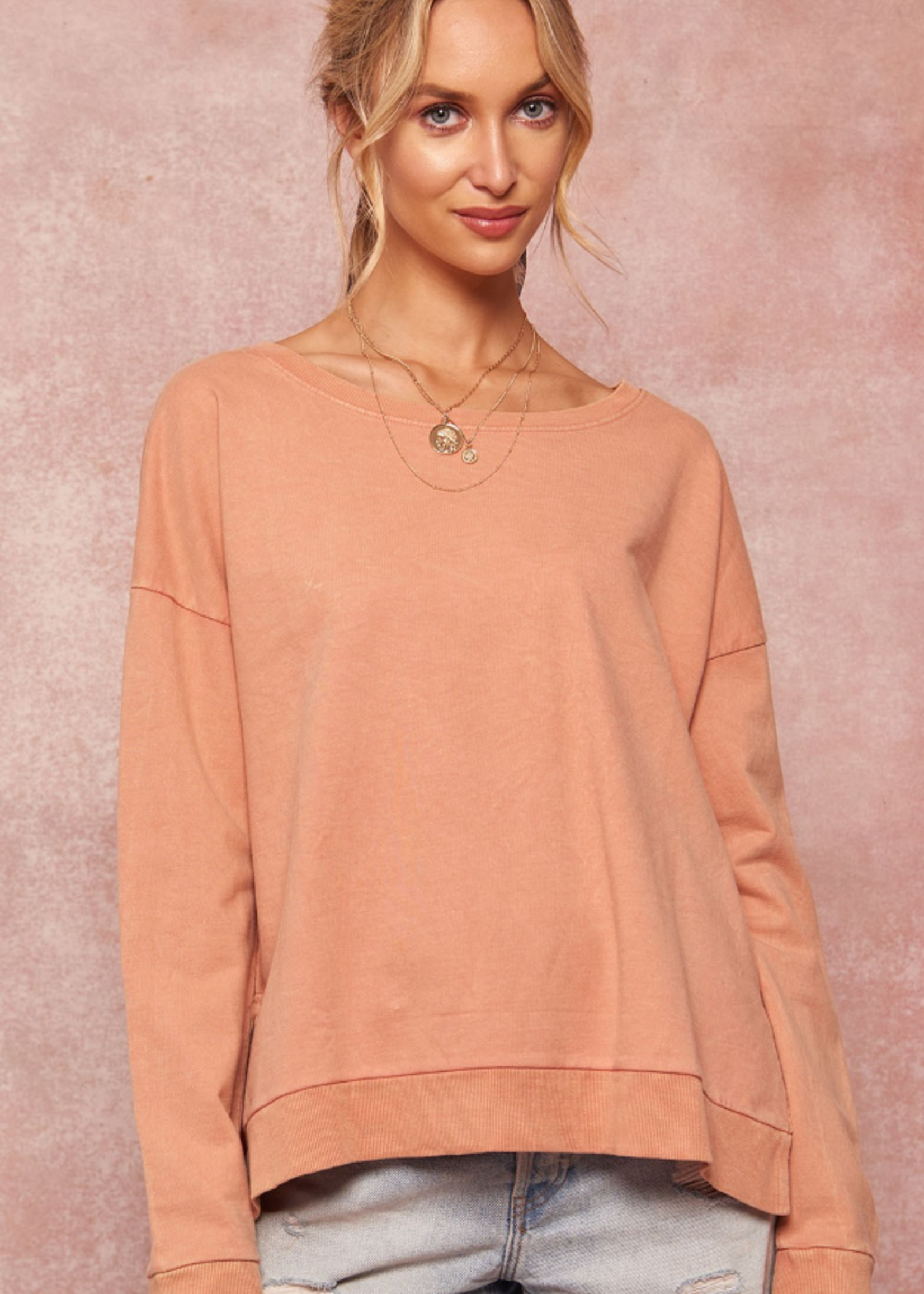 French Terry Pullover - Rose