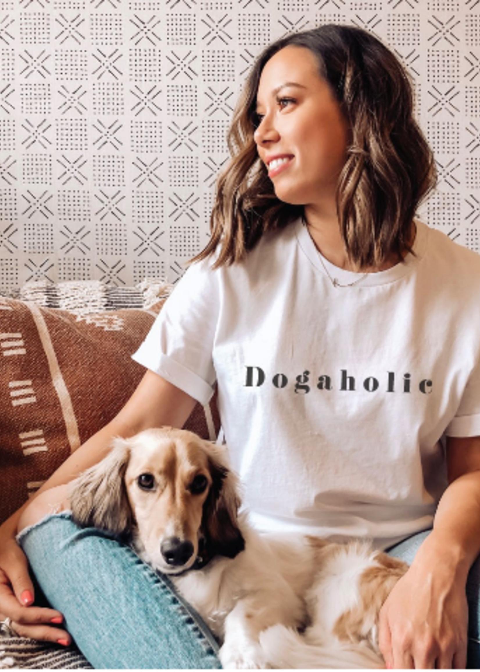 Dogaholic Tee - Vintage White