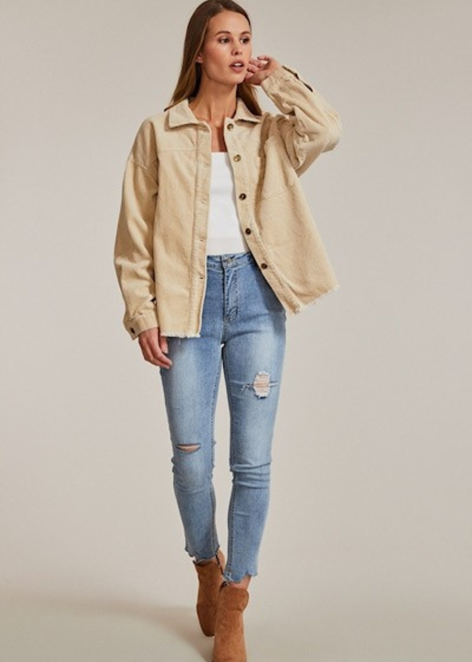 Cord Jacket - Beige