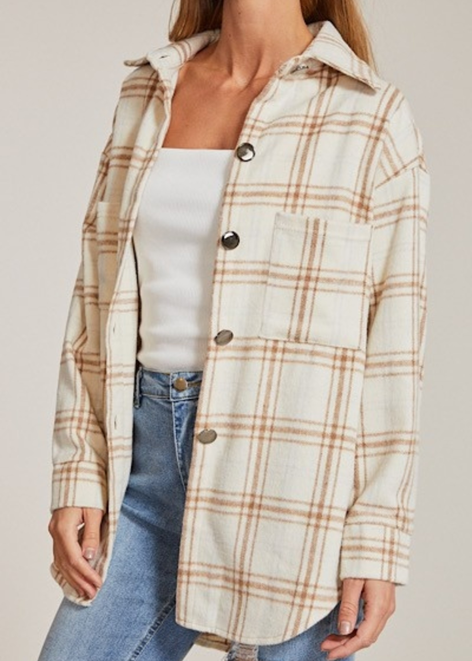Flannel Jacket - Ivory