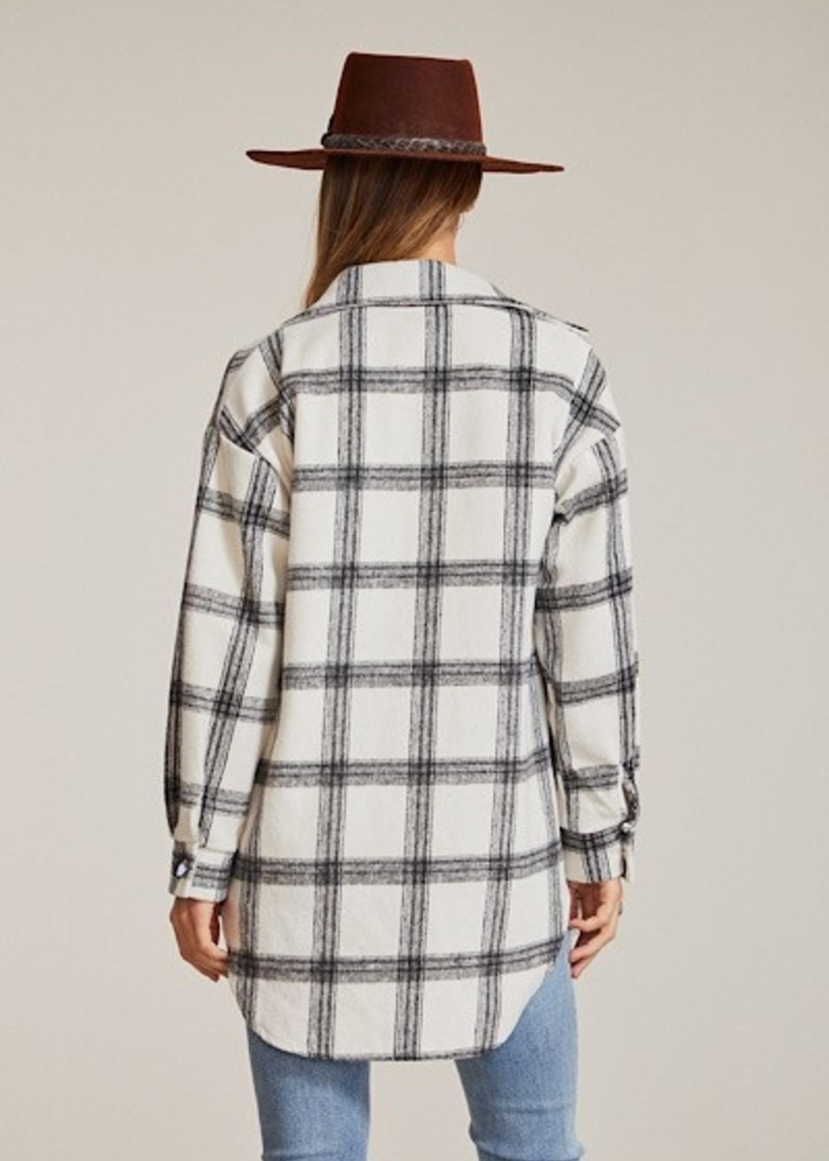 Flannel Jacket - White