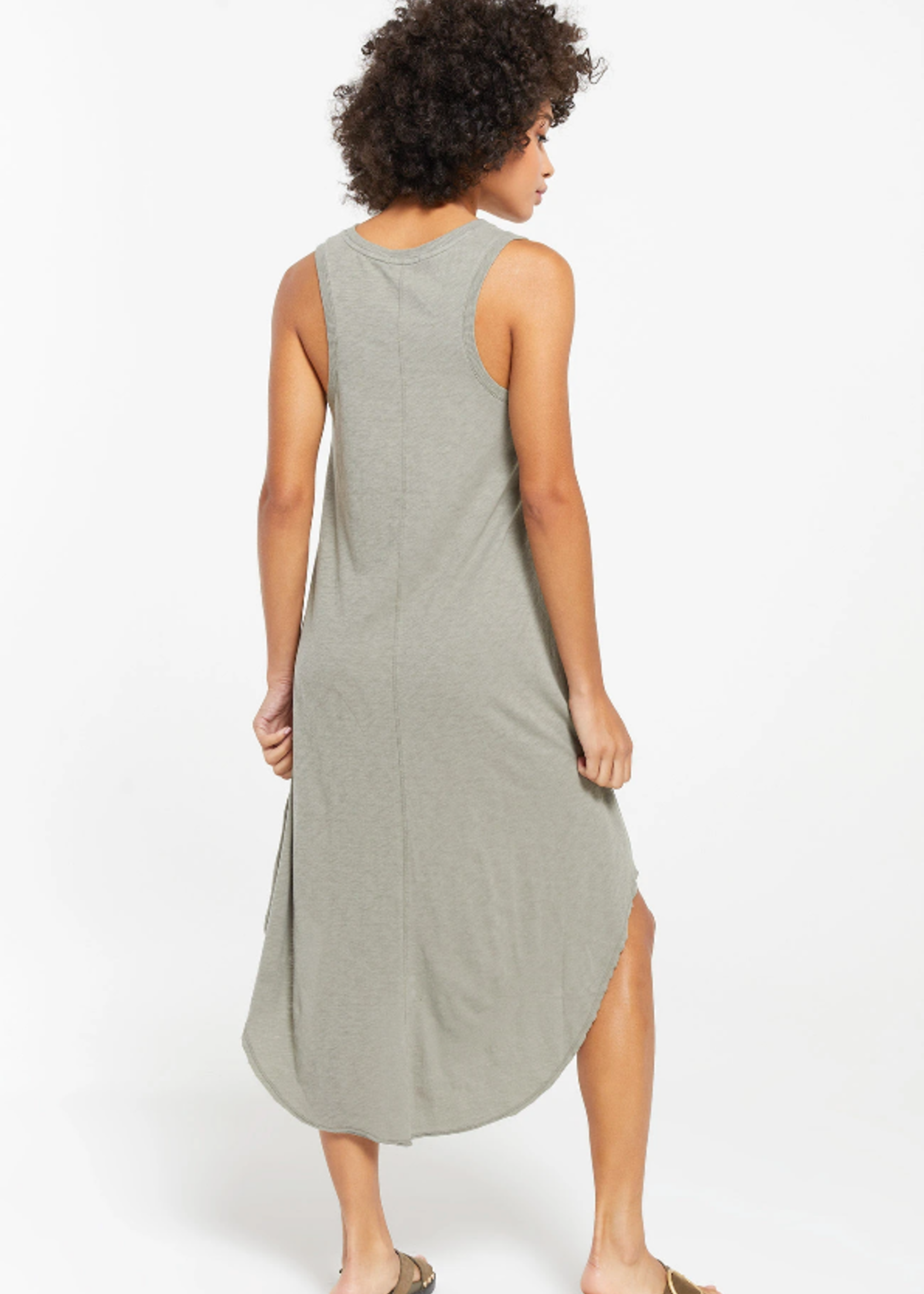 Z Supply Reverie Dress - Dusty Sage