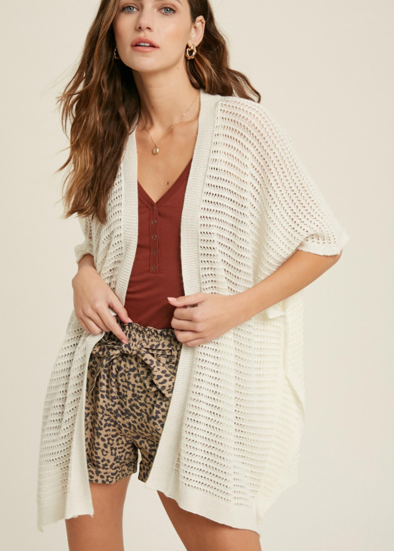 Textured Kimono Cardigan
