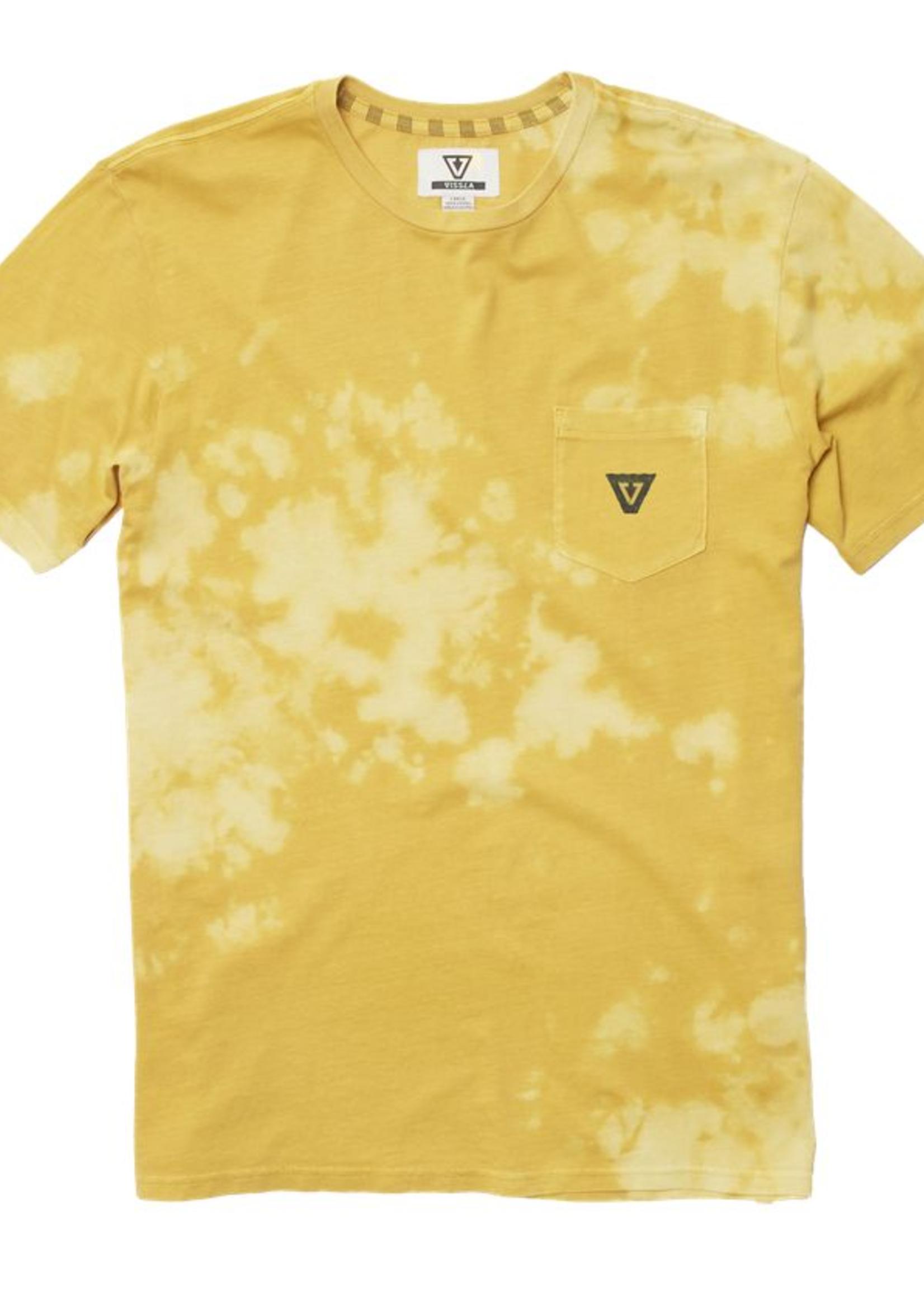 Vissla Capsized Bleach Wash Tee - Yellow