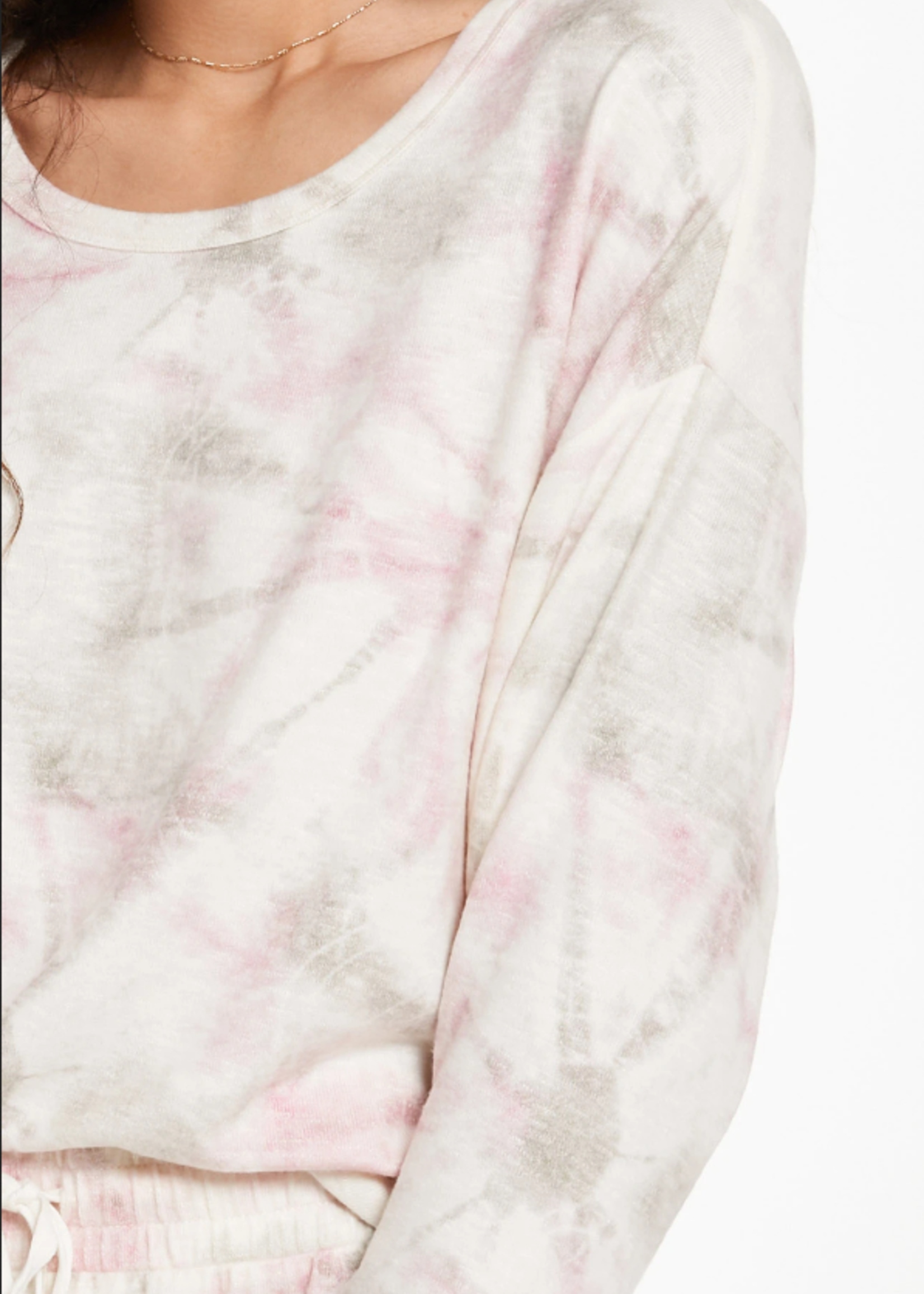Z Supply Sun Ray Tie Dye Top - Bone
