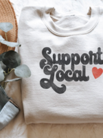 Support Local Crew Neck - Heather Dust