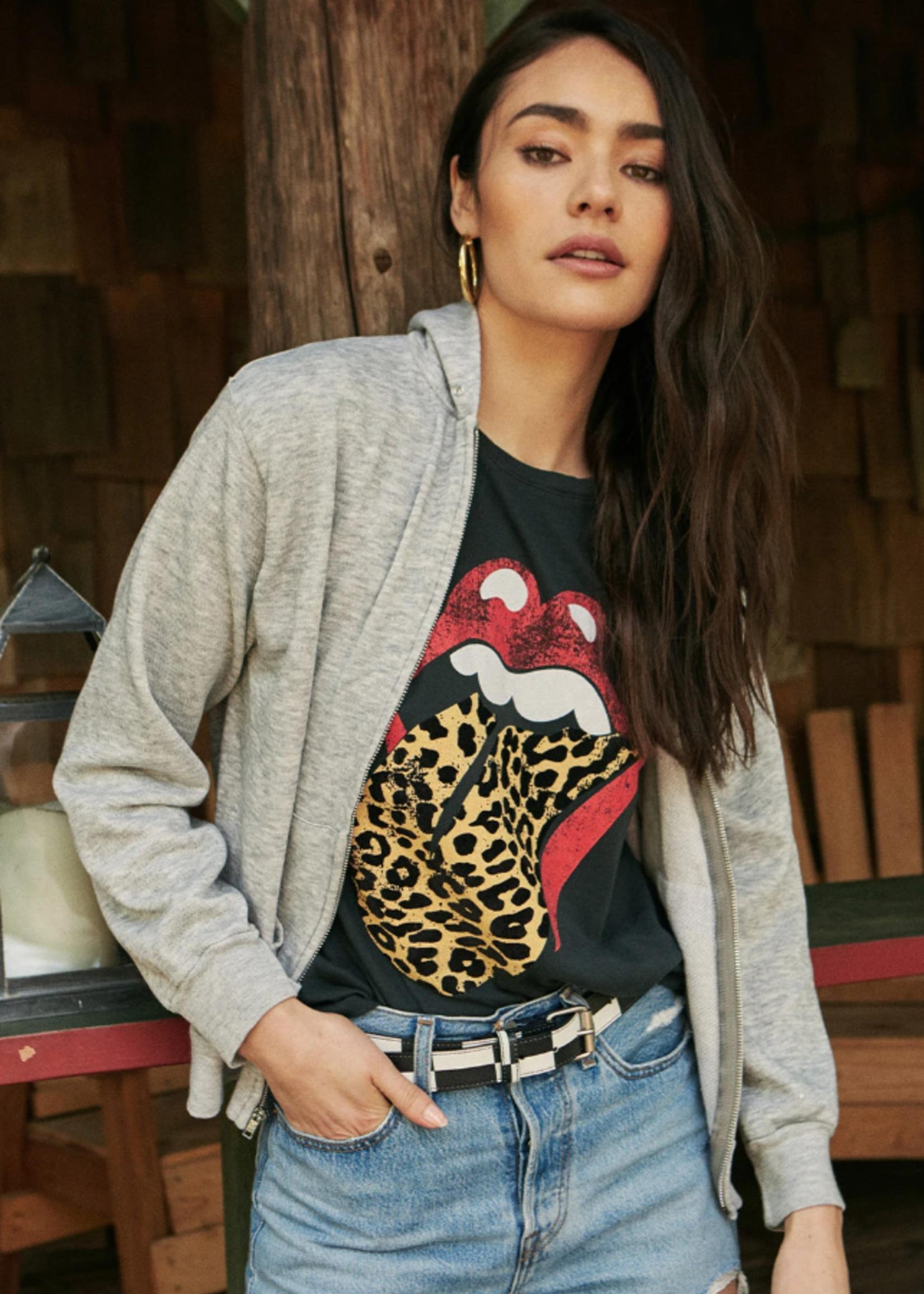 Daydreamer Rolling Stones Leopard Tongue - Vintage Black