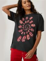 Daydreamer Rolling Stones Spiral Tongue - Vintage Black