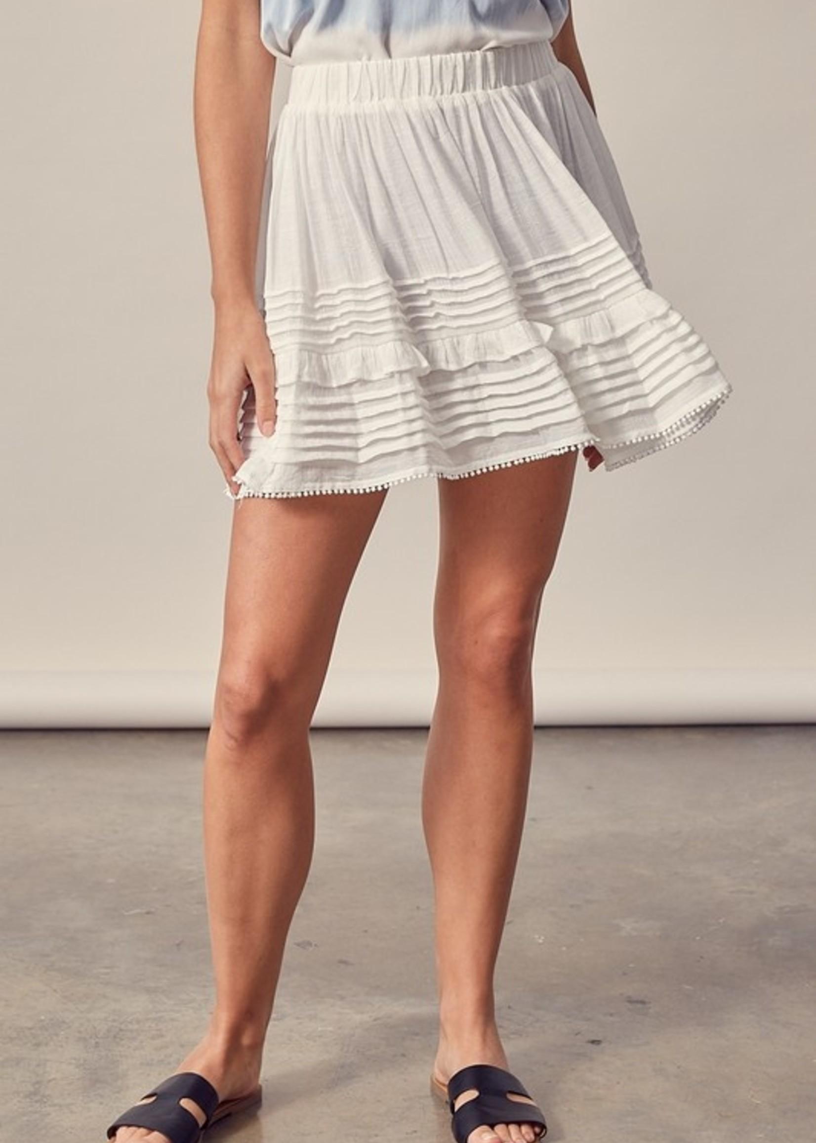 Pleating Detail Skirt