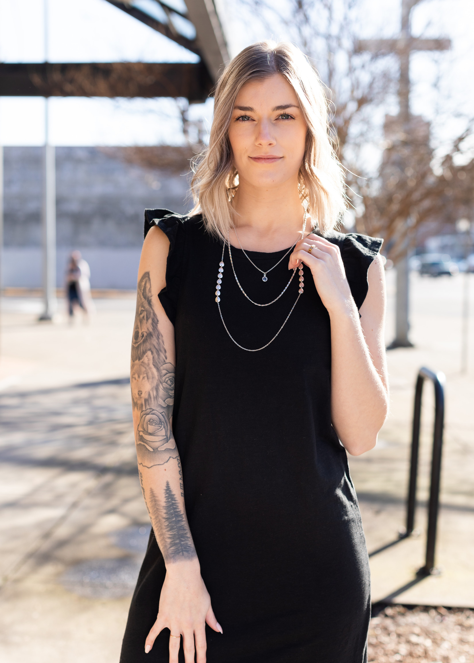 Z Supply Blakely Slub Ruffle Dress - Black