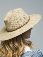 Panama Hat with Bead Trim