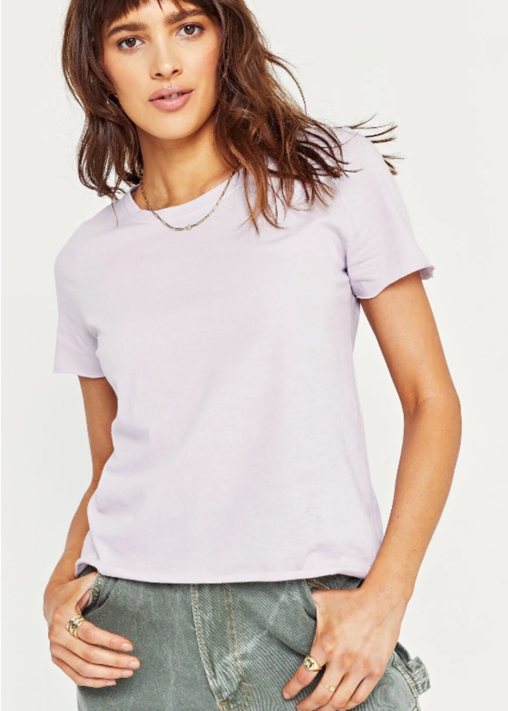 Project Social T Raw Edge Tee - lavendar