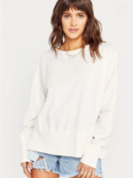 Project Social T Crewneck Sweatshirt w/Grinding - Ivory