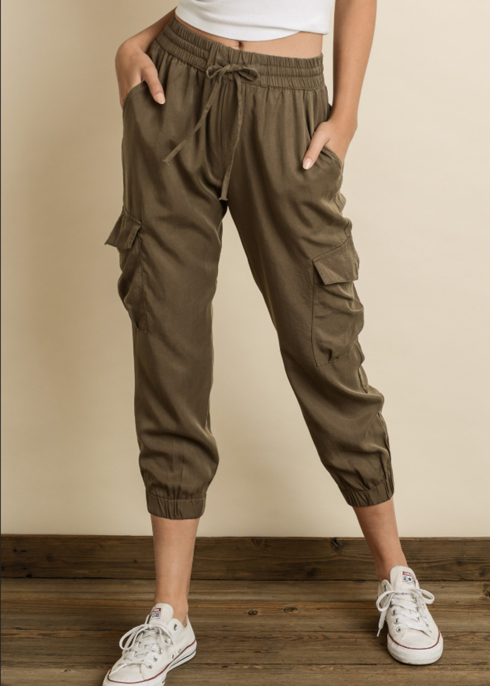Washed Cargo Joggers - Army