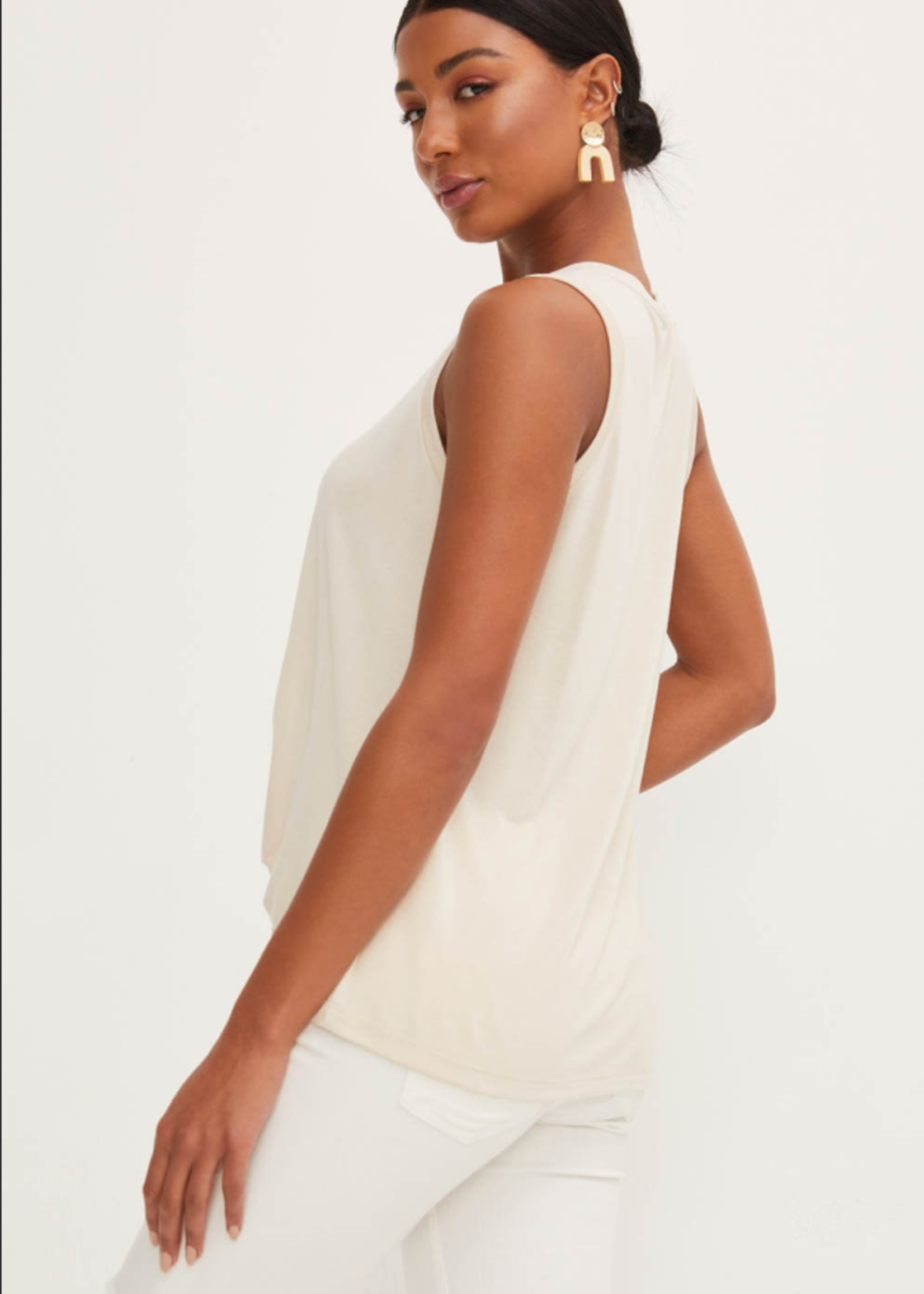 Knotted Front Tank - Taupe
