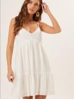 Cami V Neck Dress - White
